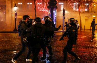 Manifestantes en las calles de París.