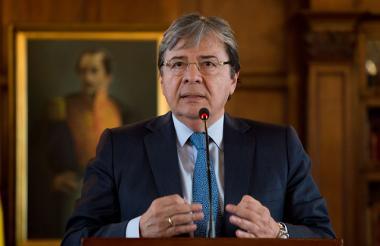 El canciller colombiano Carlos Holmes Trujillo.