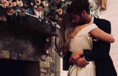 La fotografía con la que la pareja anunció su boda.