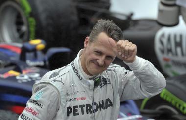 El piloto alemán Michael Schumacher cuando estaba activo en la Fómula Uno.