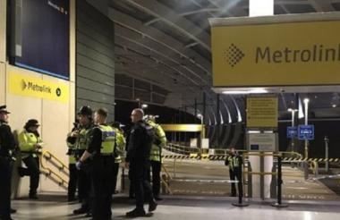 Momentos después del ataque en Manchester.