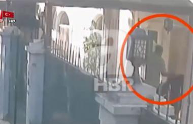 Captura del video difundido por la cadena de televisión turca A-Haber.