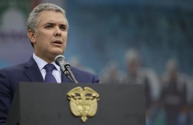 El presidente de Colombia Iván Duque.