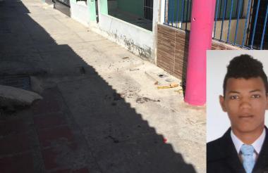 Lugar donde fue asesinado Alejandro Manuel Reyes Berrio.