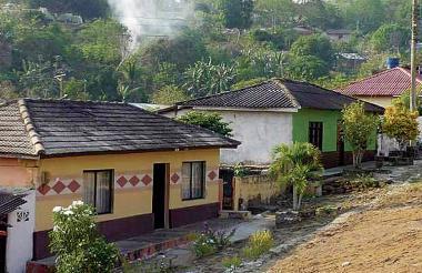 Casas en el municipio del Piojó, zona costera del Atlántico.