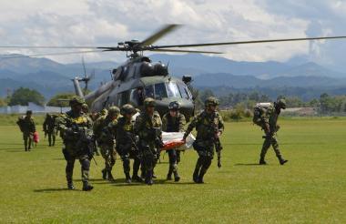 Operativo del Ejército en septiembre de 2018.