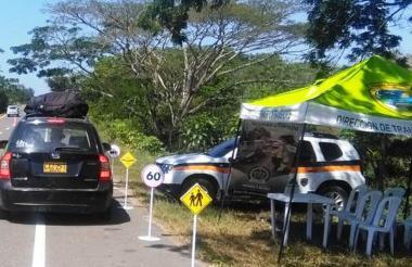 La Policía Nacional hizo un despliegue de sus hombres para mantener la seguridad durante la celebración de fin y comienzo de año