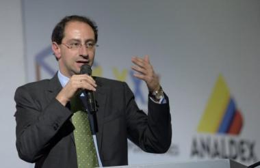José Manuel Restrepo, ministro de Comercio.