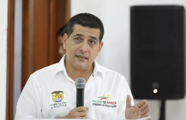 El gobernador Dumek Turbay ha centrado su gestión en el desarrollo de obras en la capital, Cartagena.