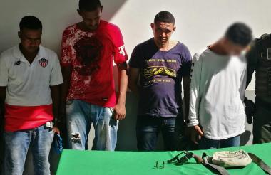 Tres de los capturados registran antecedentes.