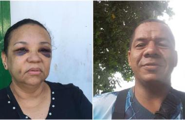 Candelaria Esther De Moya Silva y José Restrepo Frías.