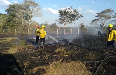 Los incendios son causados por la temporada seca.