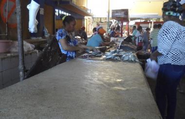 Mercado de Riohacha con poca venta de pescado.