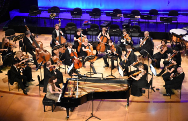 La Orquesta Filarmónica de Londres en la inauguración.