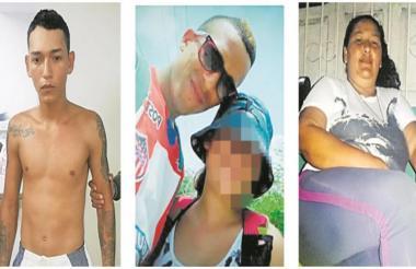Jonathan Rojas, Anderson Casas León, alias el Mello, y Nayelis Rojas Peñate.