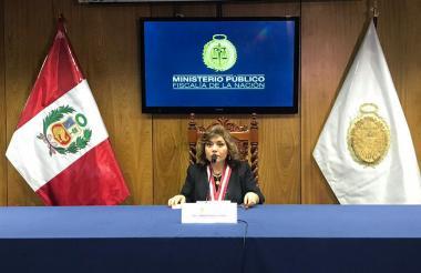 Zoraida Ávalos, fiscal general interina de Perú.