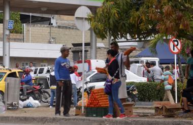 Algunos residen en las calles de la ciudad sucreña.