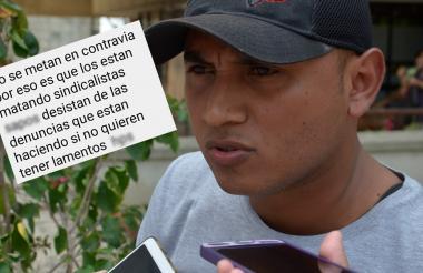 Jhonny Chadid Blanco, miembro del sindicato del Inpec en Sucre.