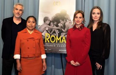 Presentación de la película en los Golden Globe.