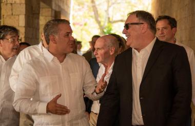 Iván Duque, presidente de Colombia, y Mike Pompeo, Secretario de Estado de Estados Unidos.