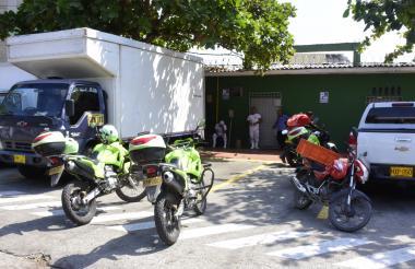 Fachada de la fábrica Galipán, ubicada en la calle 45D con carrera 19, en el barrio San José, el día del asalto.