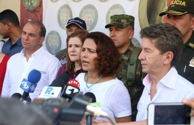 Nancy Gutiérrez, ministra del Interior.