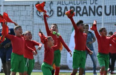 Así fue la celebración del Barranquilla FC.