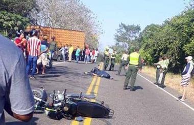 Padre e hijo se dirigían hacia Baranoa cuando chocaron con el otro vehículo.