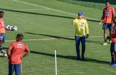 Arturo Reyes durante las prácticas en Barranquilla.