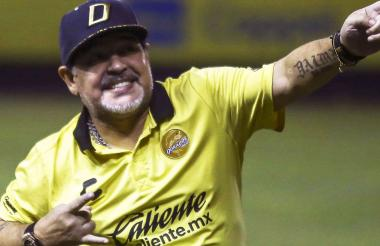 Maradona, actual DT de Dorados de Sinaloa.