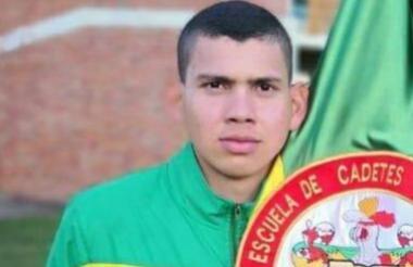 Andrés David Fuentes Yepes, herido en atentado en Bogotá.
