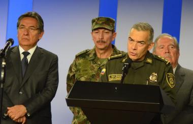 Director de la Policía Nacional, el general Óscar Atehortúa.