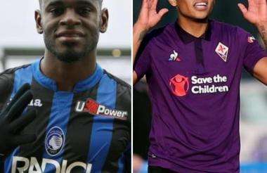 Los colombianos Duván Zapata y Luis Fernando Muriel, protagonistas hoy en el 'Calcio' Italiano.