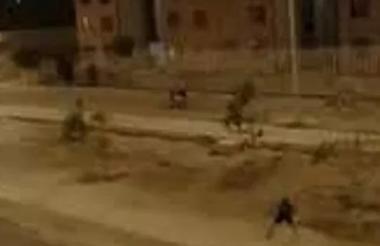 Imágenes de la asonada registrada en Montería.