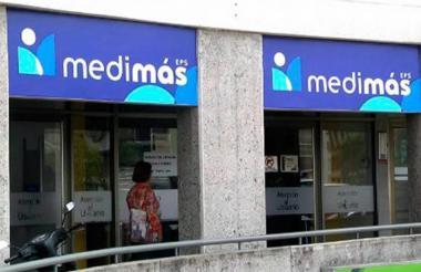 Fachada de una de las oficinas de Medimás en el país.