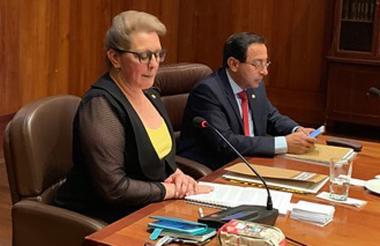 Lucy Jeannette Bermúdez y Álvaro Namen Vargas fueron elegidos como Presidente y Vicepresidente del Consejo de Estado.
