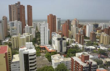 Panorámica de la ciudad de Barranquilla. Este año fueron incorporados a la base catastral 13.719 nuevos predios.