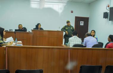 Aspecto de la audiencia de legalización de captura llevada a cabo en la tarde de este miércoles en el Centro de Servicios Judiciales.