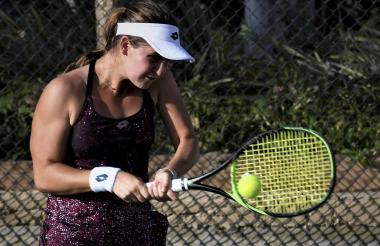 La tenista argentina Ana Geller cayó en el Mundial.