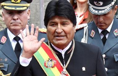 Evo  Morales, presidente.