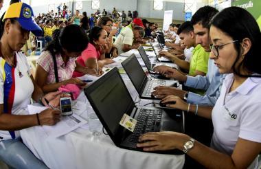 Jornada del PEP realizada en Barranquilla.