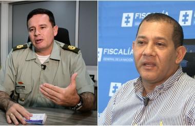 Coronel Engelber Grijalba, subcdte. Mebar y Rodrigo Restrepo, fiscal seccional Atlántico.