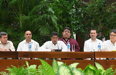 Evento en 2016 de la fase pública de los diálogos, donde se desarrolló la instalación de la mesa de negociación del Gobierno nacional con el grupo guerrillero Eln.