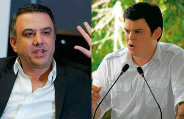 Alejandro Lyons y Edwin Besaile, exgobernadores de Córdoba.