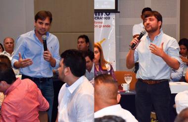 Alfredo Varela, precandidato a la Gobernación del Atlántico. Jaime Pumarejo, precandidato a la Alcaldía de Barranquilla.