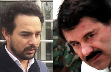 """El actor mexicano Alejandro Edda y Joaquín """"Chapo"""" Guzmán."""