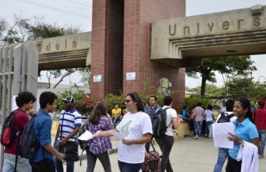 Fachada de la Universidad del Atlántico sede norte.