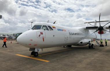 Avión ATR de Easyfly.