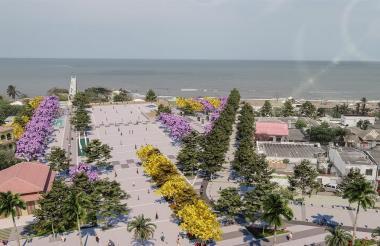 El render muestra como quedará el muelle de Puerto tras su reconstrucción.