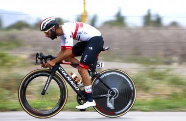 El ciclista antioqueño Fernando Gaviria en la CRI.